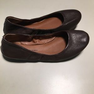 Lucky Brand Flats 7 Brown Erin